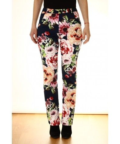 High rise & long inseam. Floral prints are the hot summer trend right now and with these pants you have many options for a top color - white, pink, yellow & green.