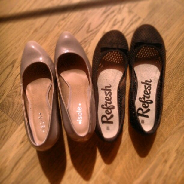 New shoes #black #ballerinas and #soft #heels