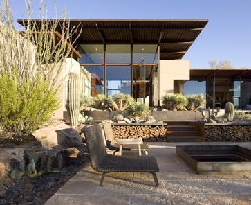Just love the mix of media in this house The Brown Residence - modern - Patio - Phoenix - the construction zone, ltd.
