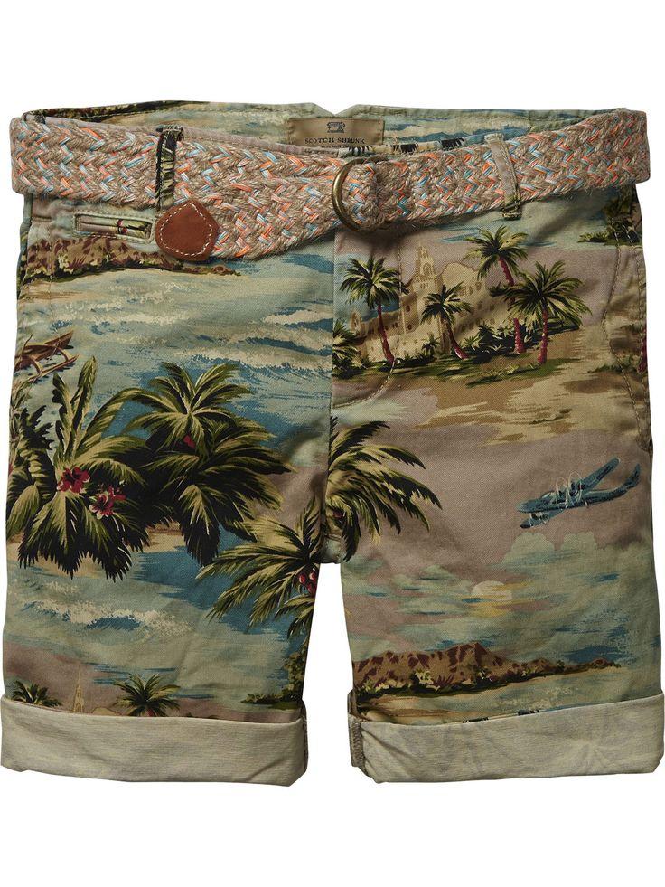 Worker chino shorts |Korte broeken|Jongenskleding bij Scotch Shrunk ss 15