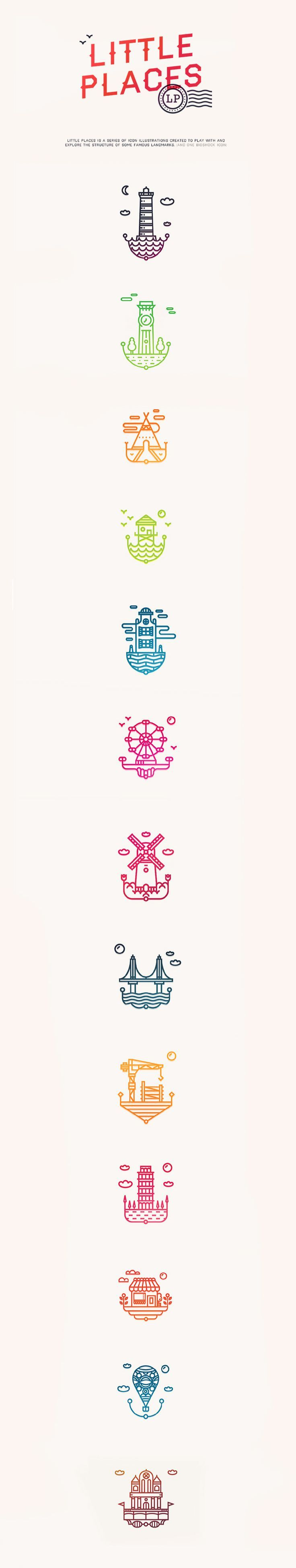 Little Places Icons|| Shane Wilson || https://www.behance.net/ShaneWilson