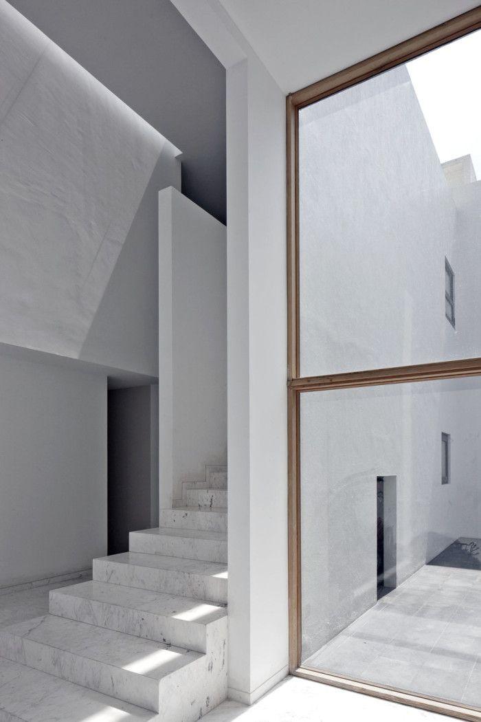 Minimalist marble architecture