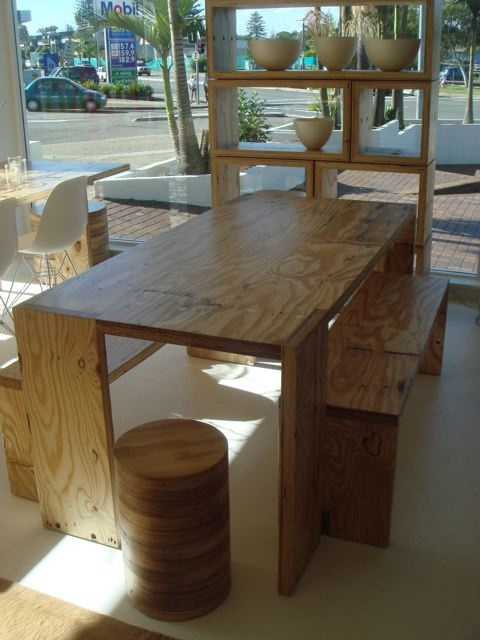 Table for home. Marine ply construction.
