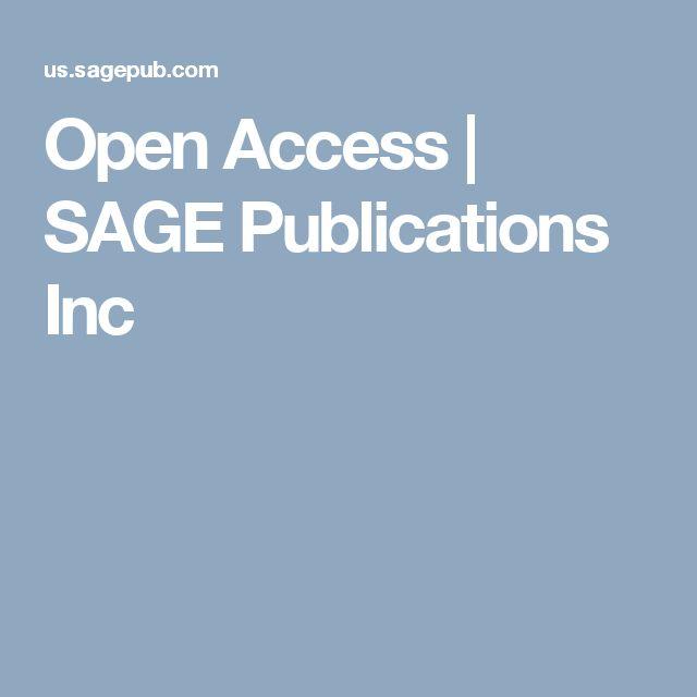 Open Access | SAGE Publications Inc