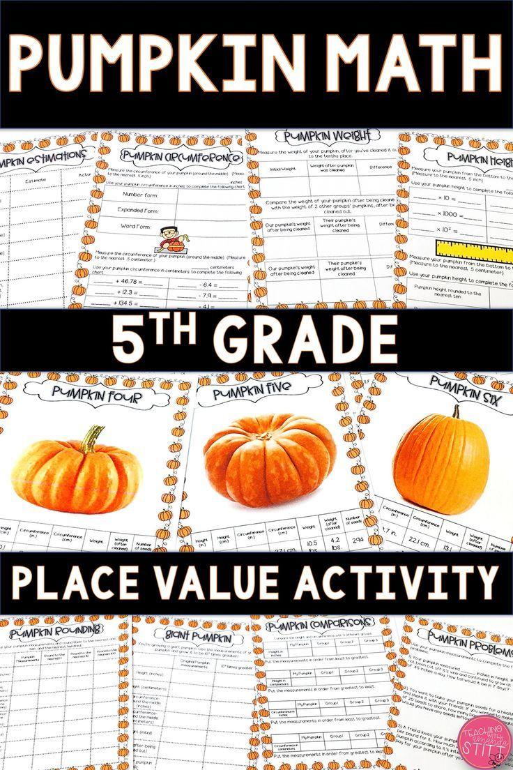 Pumpkin Math Activities Place Value Activities 5th Grade Pumpkin Math Activities Pumpkin Math Fall Math Activities [ 1104 x 736 Pixel ]