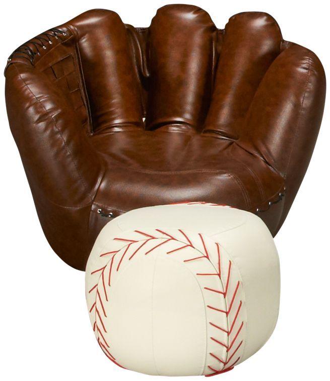 Baseball Glove Chair U0026 Ottoman Jordanu0027s Furniture $299.99