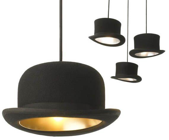 i want these lights!: Hats Pendants, Lights Fixtures, Trav'Lin Lights, Pendants Lights, Derby Hats, Hats Lights, Lights Ideas, Cowgirl Hats, Tops Hats
