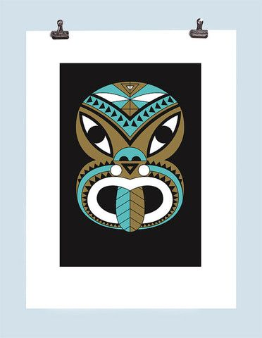 Neon Tiki Screen Print – Greg Straight Shop
