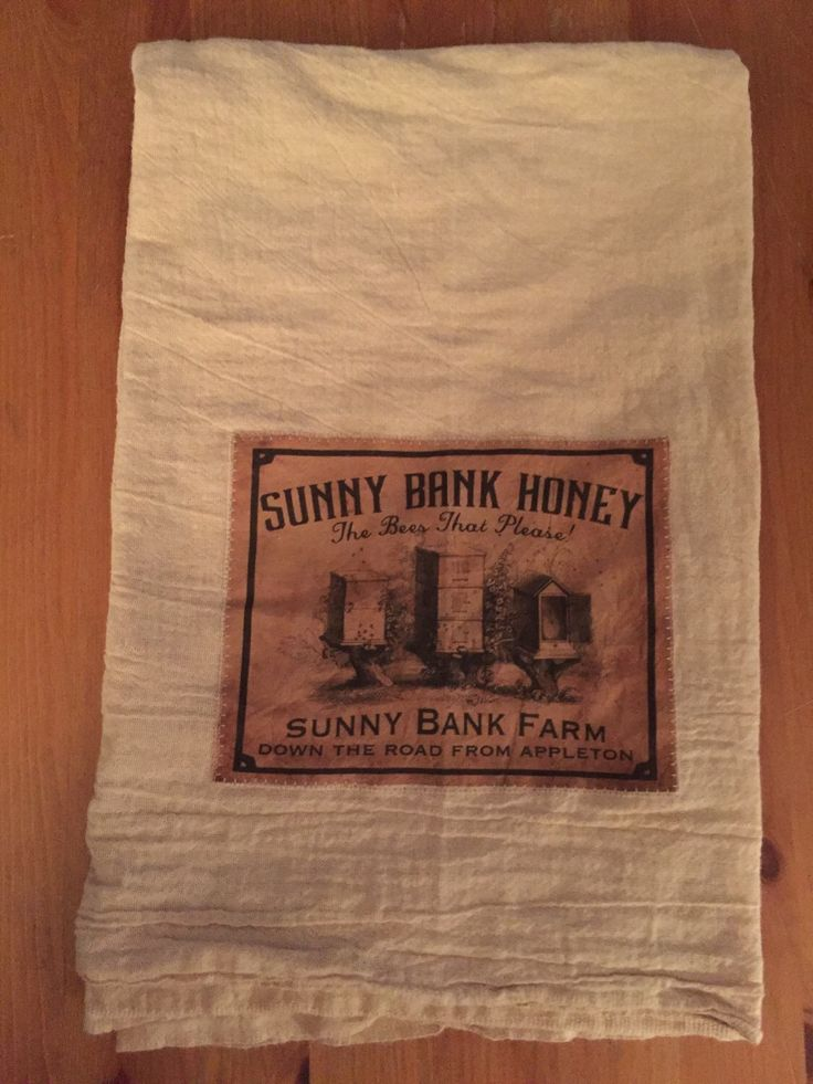 A personal favorite from my Etsy shop https://www.etsy.com/ca/listing/265636871/farm-honey-floursack-tea-towel