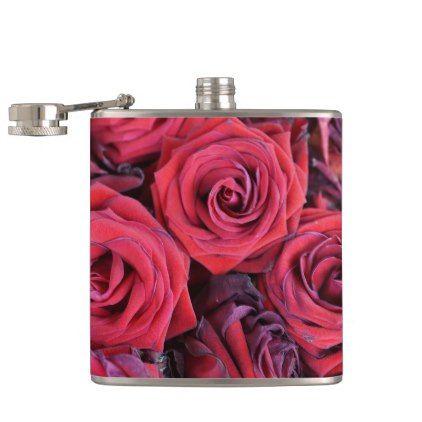 #Roses Hip Flask - #bridal #shower #gifts #wedding #bride