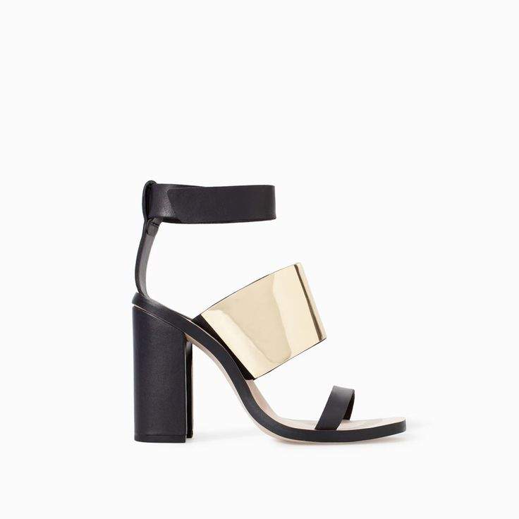 Image 1 of HIGH HEEL SANDAL WITH METALLIC DETAIL from Zara