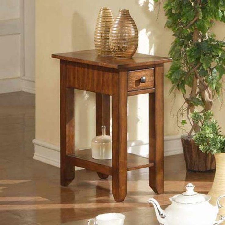 zahara 1 drawer small end table mission oak azh101e