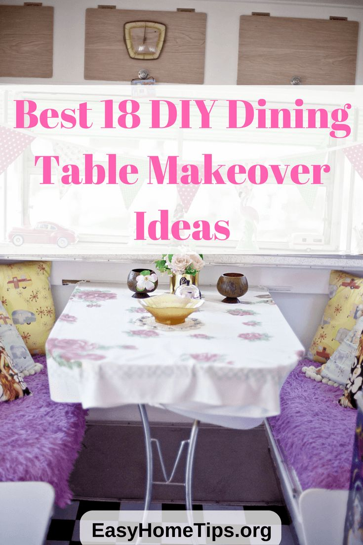 Best 18 ideas cheap and easiest DIY dining table makeover before and after
