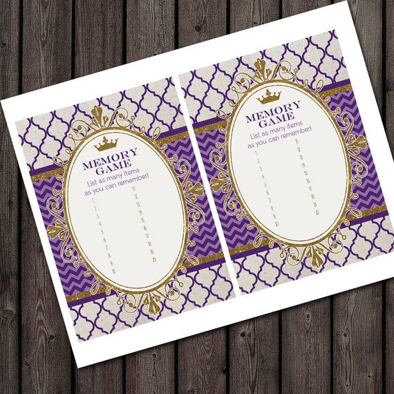 Baby Shower Memory Game 5x7 Inch Two Per Page By AmysSimpleDesigns