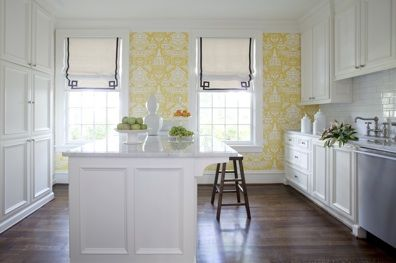 Wallpaper & Roman Shades | secret of domestic bliss