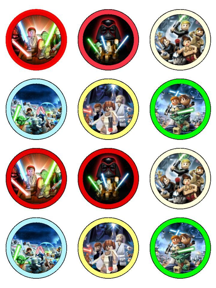 Lego Star Wars Cupcake Toppers Star Wars Pinterest