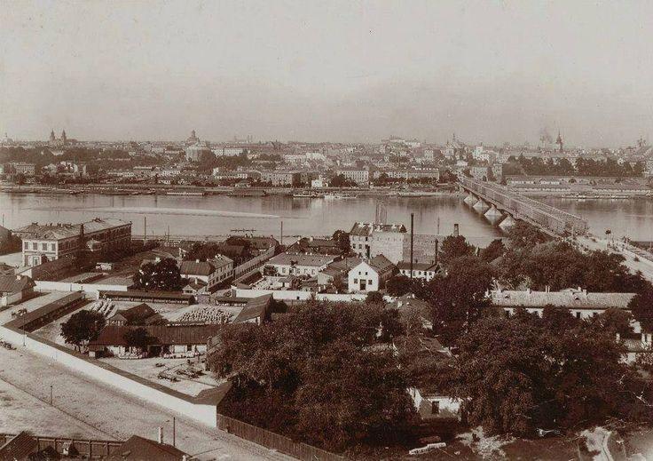 Widok z Pragi w kierunku lewego brzegu, fot. 1897-, Konrad Brandel, źr. Mazowiecka Biblioteka Cyfrowa, źr. livejournal.com