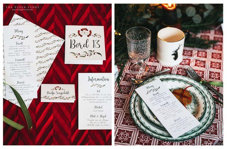 Inbjudningskort med förtrollande bär jultema jul Fotograf Michaela Zabel - www.yellowfox.se