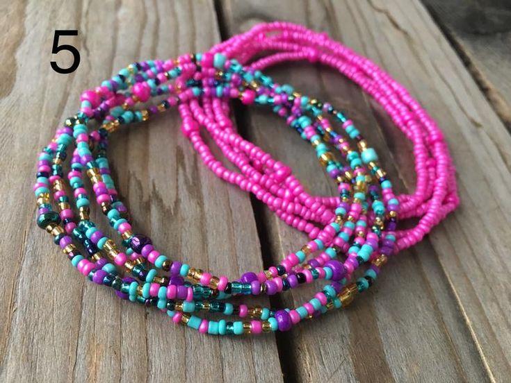 Double strand 2 piece waist beads belly bead body jewelry