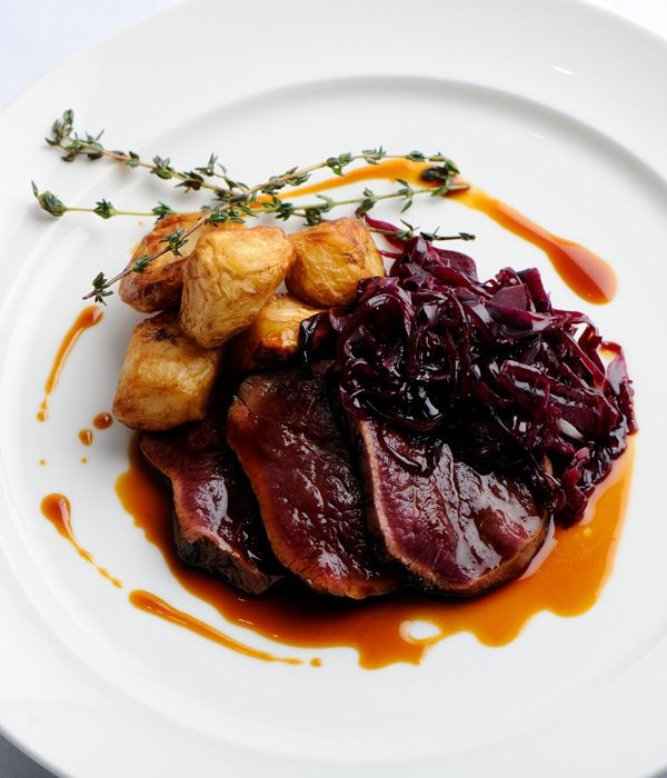 The peppery dittander and spiced cabbage add a beautifully autumnal feel to this exciting dish. - Simon Rogan