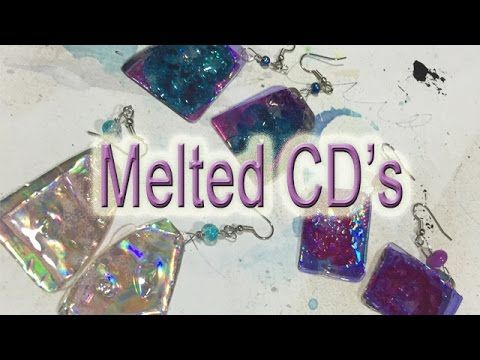 Playing With Melted CD's - YouTube
