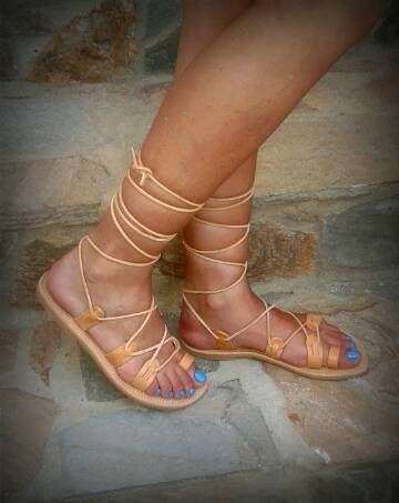 Tie up Gladiator sandals Women's Gladiator by madammeshushu $ 40