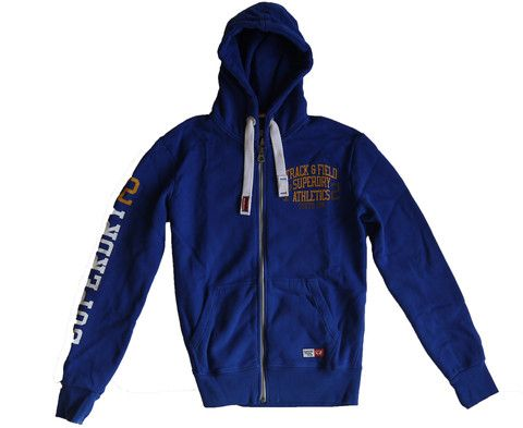 Superdry Trackster Ziphood Hoody Mazarine Blue Special Edition Colour – Moyheeland Traders
