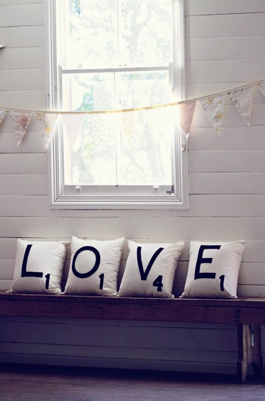 Love pillows! http://www.stylemepretty.com/2011/06/16/byron-bay-wedding-by-poppy-lane/