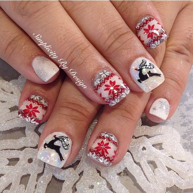 1000+ Images About Christmas Nail Art On Pinterest
