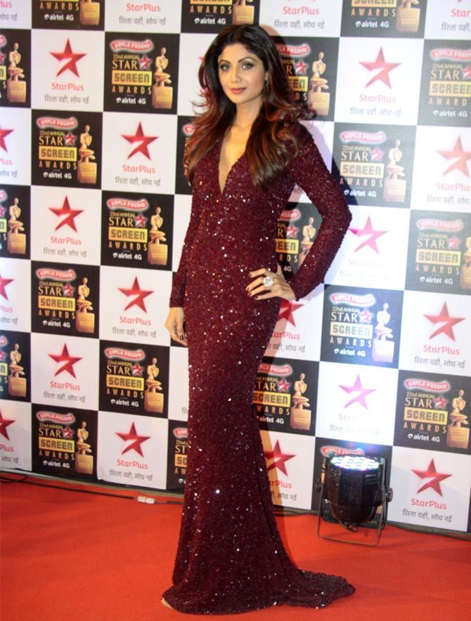 Shilpa Shetty @ Star Screen Awards 2016