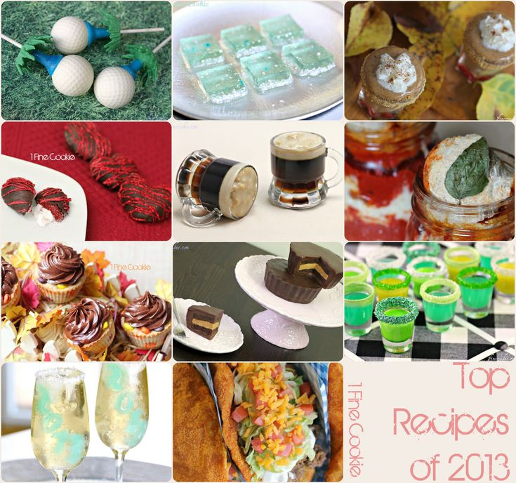Viral recipes of 2013 Most popular holiday recipes http://www.1finecookie.com/2014/01/popular-recipes-2013/ #saint #patrick's #day #valentine's #patricks #valentines #champagne #newyears #new #years #year's #eve #father's #fathers #day #jello #shots #candy #vodka #green #shot #recipe #peanut #butter #cup #cake #golf #ball #pumpkin #pie #thanksgiving #halloween #holidays #food #cooking #mason #jar #craft #popular #doritos #locos #tacos #taco #bell #strawberry #hearts