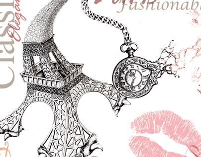 """Check out new work on my @Behance portfolio: """"Kiss for Paris..."""" http://be.net/gallery/31413893/Kiss-for-Paris"""