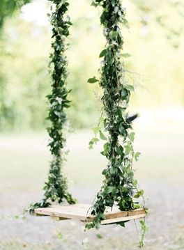 Green and lavender wedding