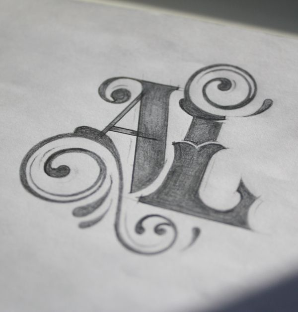 I love the scroll work incorporated with bold font. Must doodle!