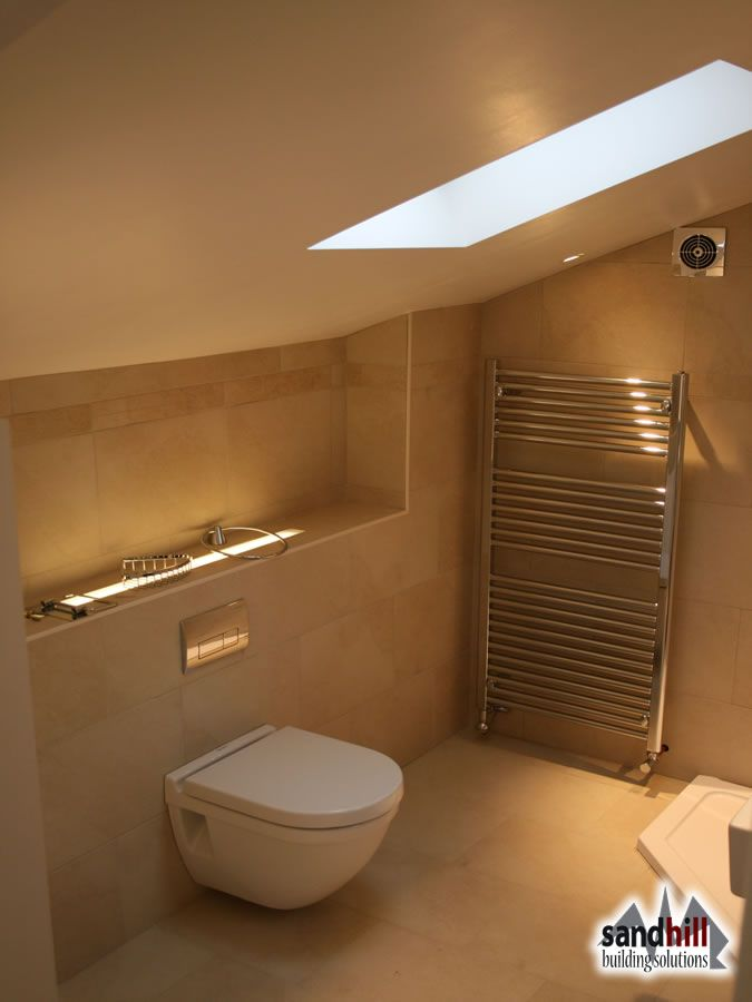 Loft conversion bedroom with ensuite, Putney, London SW15