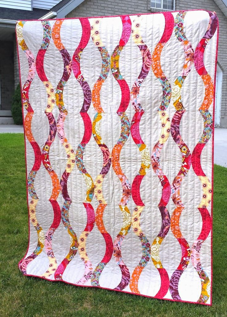 Urban Candy quilt by Sew Kind of Wonderful,  using Quick Curve Ruler - by justicequilts.blogspot.com