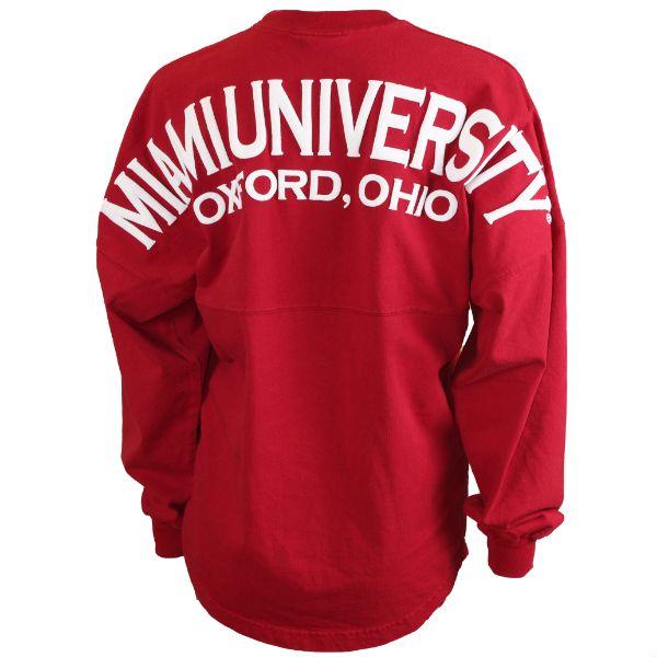 Miami University Oxford, Ohio Spirit Football Jersey In Red 12341092 (SKU 12341146500268)