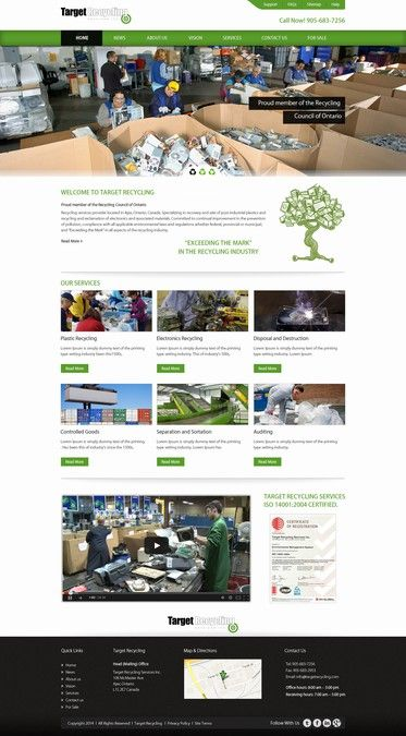 Revamping Recycling Companies Website! by Refine Edge