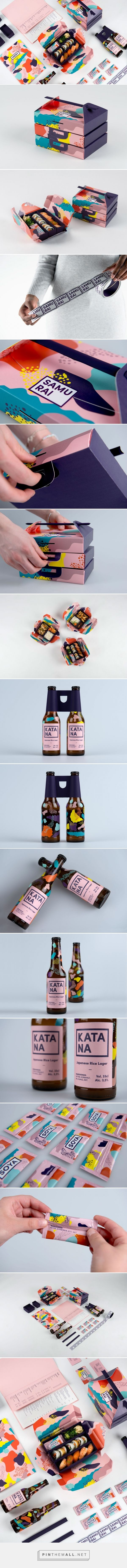 "www.lescomptoirsdorta.com _ Designers: Oliver Sjöqvist, Nanna Basekay, Fanny Löfvall _ ""created a new beer to the brand and also developed a new take away concept. Inspiration are taken from the colorful Japanese culture and handwork"""
