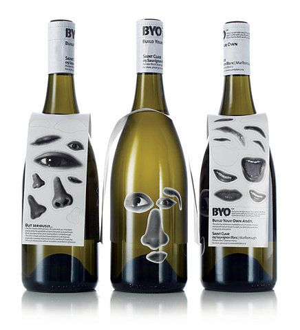 BYO (build your own) wine labels by The Creative Method.