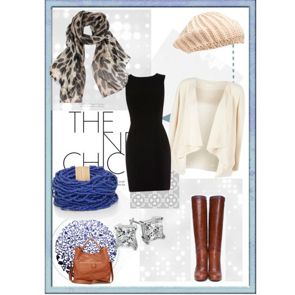 """""""Winter Neutral Mix Up for Black Dress"""" by brubabe on Polyvore"""