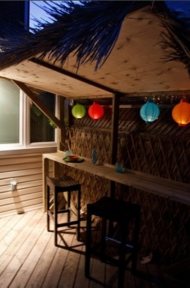 7 Projects To Tackle Before Throwing An Outdoor Party- love tiki bars and lanterns