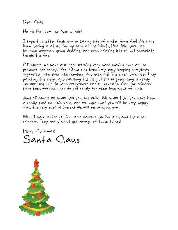 739 best santa letters images on Pinterest