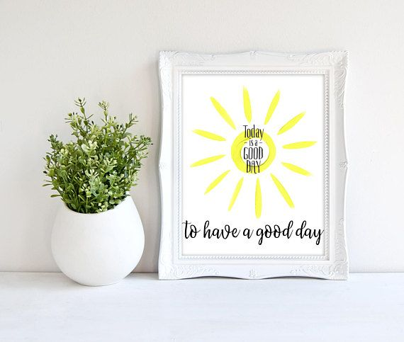 Bedroom Wall Art  Sunshine Wall Art  Today is a Good Day