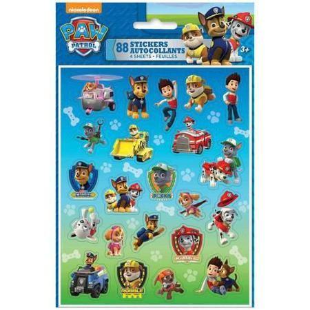 PAW Patrol Sticker Sheets, 4-Count - Walmart.com