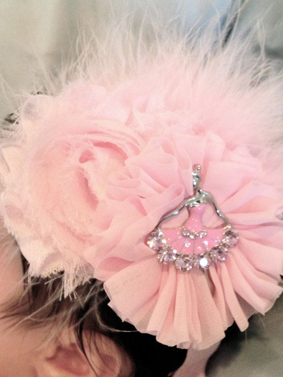 Pink Ballerina Headband Infant Headbad by GirlyBowsandThings 0d4c7ba63a9