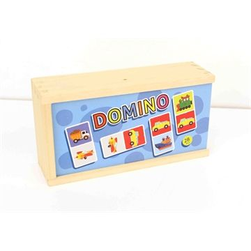 Wooden Transport Dominos with Case