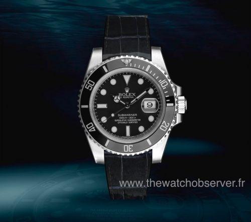Rolex Submariner sur bracelet alligator noir verni Radium Concept - prix, photo