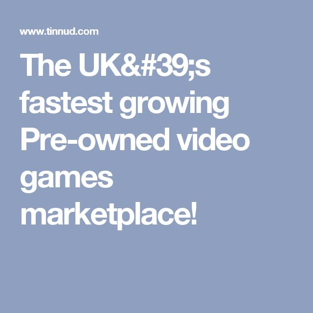 The UK's fastest growing Pre-owned video games marketplace!