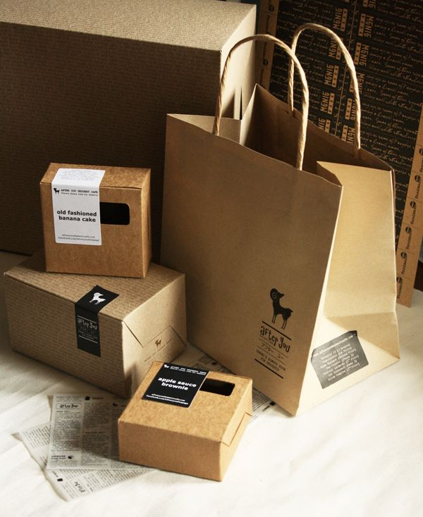 Kraft packaging. Who knew grocery bags could be so elegant.